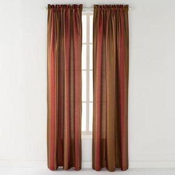 CHF 1-Panel Striped Faux-Silk Window Curtain