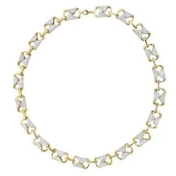 Unique 14k Gold Pave Diamond Necklace for Women 12.9ctw by Luxurman (Yellow)
