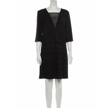 Square Neckline Mini Dress Black