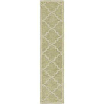 Artistic Weavers Central Park Abbey 2'3 x 12' Handcrafted Runner in Sage