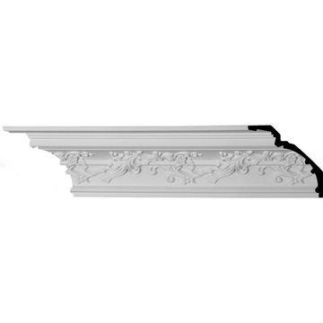 Ekena Millwork 6.25-in x 7.88-ft Primed Polyurethane Hampton Crown Moulding