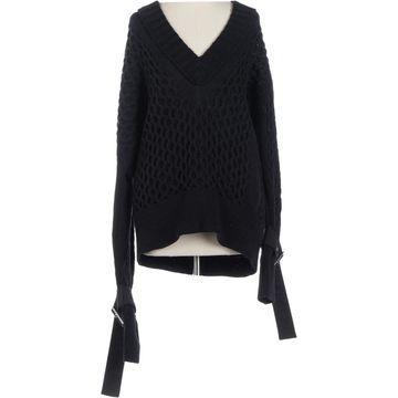 Sacai Black Cotton Knitwear