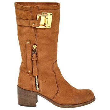 Barbara Bui Camel Suede Boots