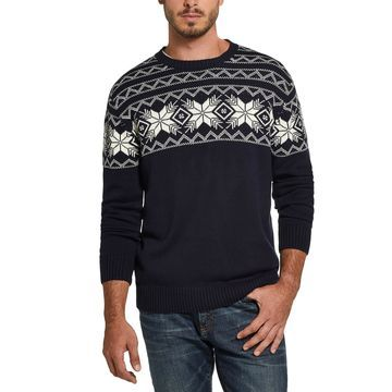 Men's Snowflake Pattern Sweater