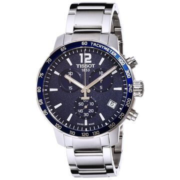 Tissot Men's T0954171104700 'Quickster' Chronograph Stainless Steel Watch