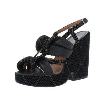 Laurence Dacade Womens Golfab Wedge Sandals Velvet Slingback