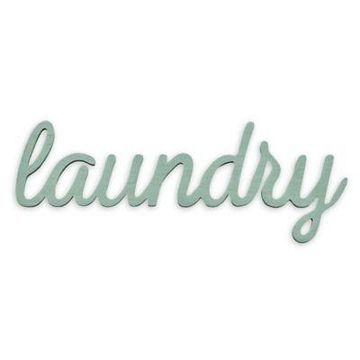 Stratton Home Decor Laundry Wall Art in Teal