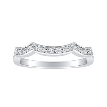 Auriya 1/5ctw Contoured Diamond Wedding Band Platinum