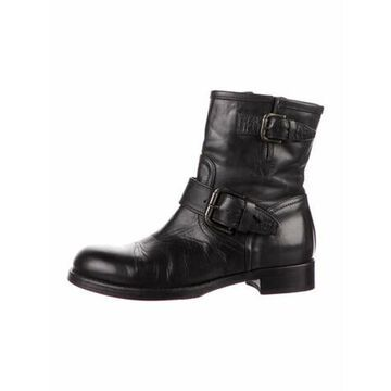 Leather Moto Boots Black