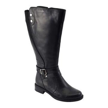 David Tate Women's Saratoga Knee High Boot Black Calfskin