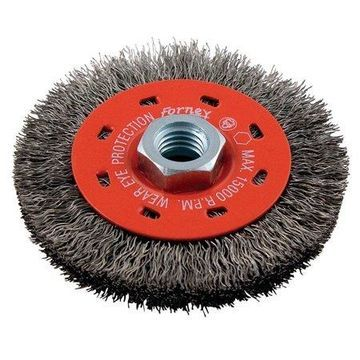Forney 4 in. Crimped Wire Wheel Brush Metal 15000 rpm 1 pc.