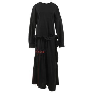 Yohji Yamamoto Black Polyester Dresses