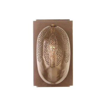 Kalco 501133 Lauren 1-Light Wall Sconce, Antique Bronze/Antique Gold Accents