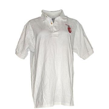 Gildan Women's Top Sz L Golf Polo Shirt Short Sleeve White