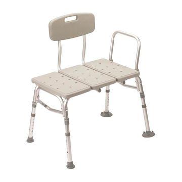 Drive Medical Gray Plastic Freestanding Transfer bench