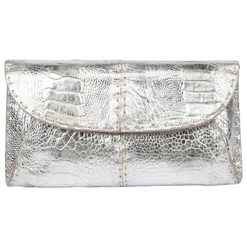 Elie Saab Silver Leather Clutch bags
