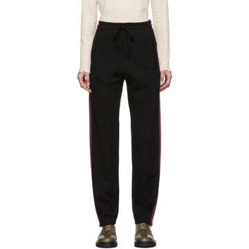 Isabel Marant Etoile Black Knit Docia Sporty Lounge Pants