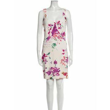 Floral Print Mini Dress White