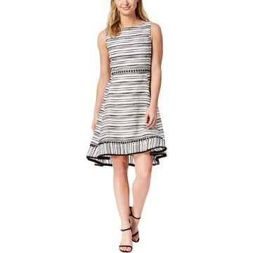 Taylor Womens Cocktail Dress Party Striped