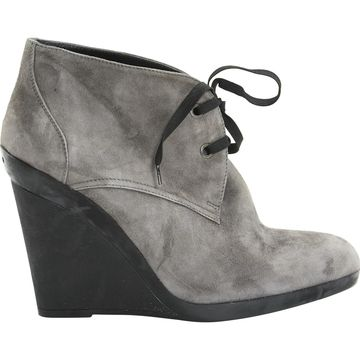 Hogan Grey Suede Ankle boots