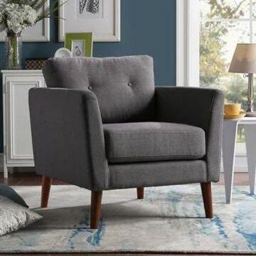 Aurora Modern Arm Chair by Greyson Living (Charcoal)