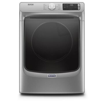 Maytag 7.3-cu ft Front Load Stackable Vented Gas Dryer with Extra Power - Metallic Slate