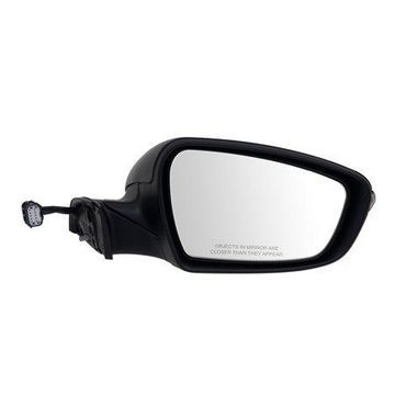 75559K - Fit System Passenger Side Mirror for 14-16 Kia Forte Sedan, Forte 5 Hatchback, textured black w/ PTM cover, w/ turn signal, power folding, w/o puddle lamp, Heated Power
