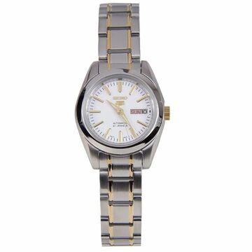 Seiko Women's SYMK19 'Seiko 5' Two-Tone Stainless Steel Watch - White (White)
