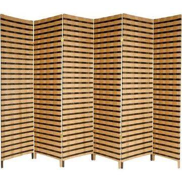 6' Tall 2-Tone Natural Fiber Room Divider
