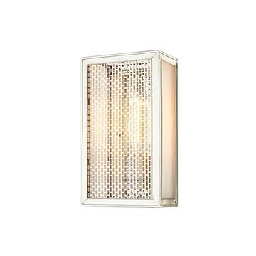 """Hudson Valley Ashford 10"""" Wall Sconce in Polished Nickel"""