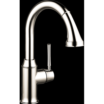 Hansgrohe Talis C Prep Kitchen Faucet, 2-Spray Pull-Down, 1.75 GPM in Polished Nickel