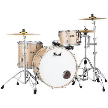 Pearl Vintage Hybrid Wood Fiberglass Series 3-Piece Shell Pack with 24 in. Bass Drum Platinum Mist