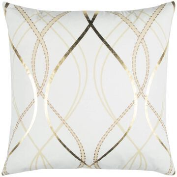 Rizzy Home Donny Osmond 20-in x 20-in White 100% Cotton Indoor Decorative Pillow   DFPT12854IV002020