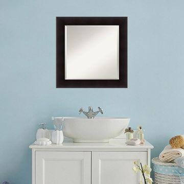 Amanti Art Square Espresso Finish Wall Mirror