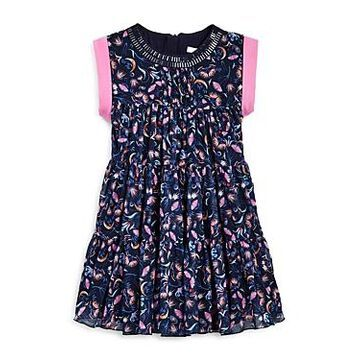 Chloe Girls' Tiered Floral Print Dress - Little Kid