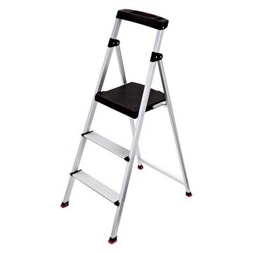 Rubbermaid 3-Step Lightweight Aluminum Step Stool With Project Top