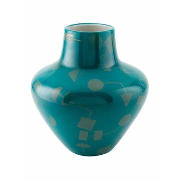 Santorini Artemis Porcelain Vase Teal