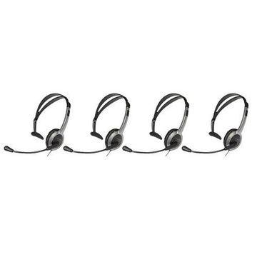 Panasonic KX-TCA430 Over-The-Head Headset w/ NC Mic - 4 Pack For VTech Phones