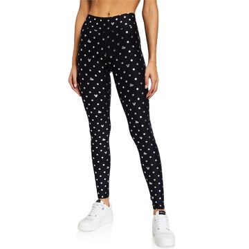 Foil-Printed Tall-Band Activewear Leggings