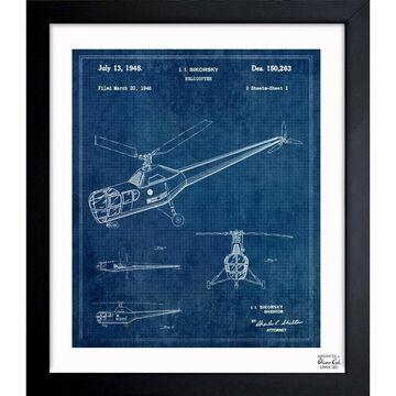 Oliver Gal 'Helicopter 1946' Framed Blueprint Art