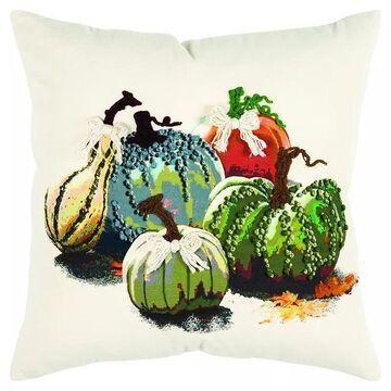 Rizzy Home Gourd Throw Pillow, Green, 20X20