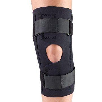 OTC Neoprene Knee Stabilizer Wrap - Spiral Stays, Black, Small