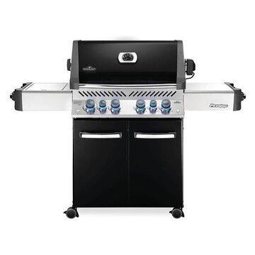 Prestige 500 Grill On Cart w/ IR Rotisserie & Side Burner, Black, LP