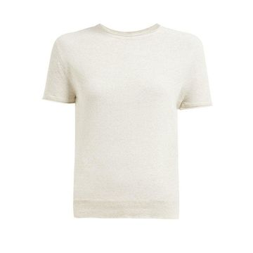Lemaire - Grown On Sleeve Knitted T Shirt - Womens - Ivory