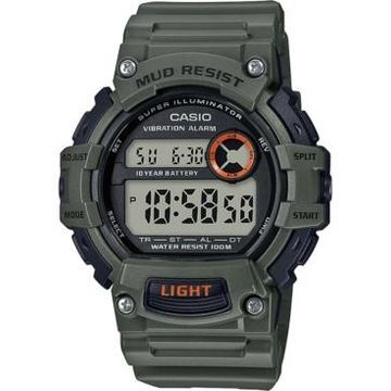 Casio Men's Digital Green Resin Strap Watch 48.4mm