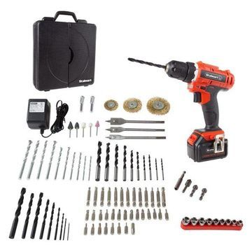 Stalwart 20V Lithium Cordless Drill and Accessory 89-Piece Set
