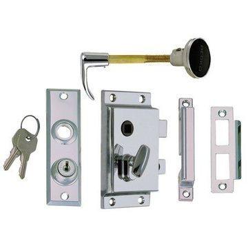 Perko 0919DP0CHR Rim Lock Set - Reverse with Flush Strike