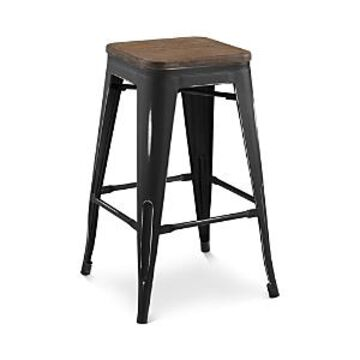 Modway Promenade Backless Wooden Seat Counter Stool