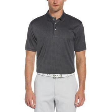 Pga Tour Men's Twill Check Jacquard Polo Shirt