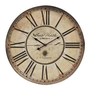 Sterling Distressed Wall Clock